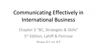 Reasons for effective International Business Communication