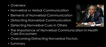 Verbal and nonverbal communication in healthcare