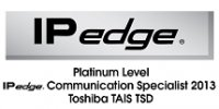 Platinum Level IPedge Communication Specialist 2013 Toshiba TAIS TSD