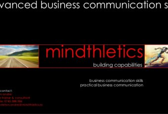 Advanced business communication skills