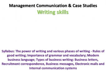 business communication and report writing notes