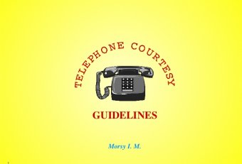 Business communication skills and telephone Courtesy