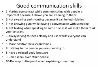 Business communication skills exercises PDF