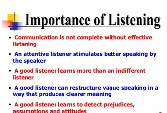 Business communication skills listening