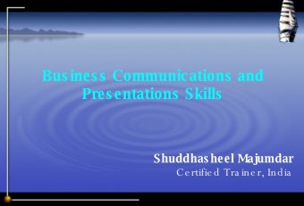 Business communication skills Presentation