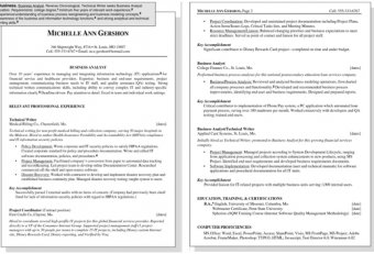 Business communication skills Resume