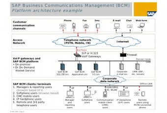 Business Communications Management SAP