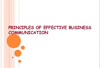Business writing principles Communication
