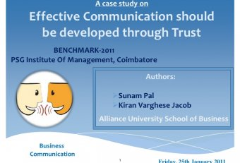 Case study on business communication skills
