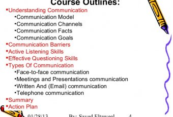 Course Outline for business communication skills