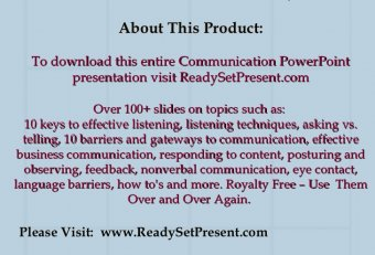 Effective business communication - PowerPoint presentation
