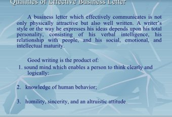 Effective business communication report Writing