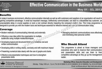 Effective communication in the business World