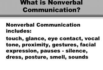 essay on nonverbal communications The following examples of non verbal communication can give you ideas about all the different ways to communicate.