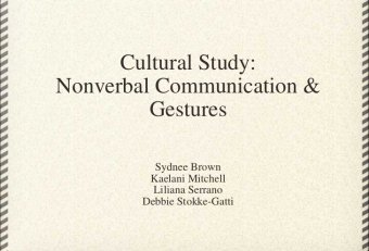 Gestures in nonverbal communication