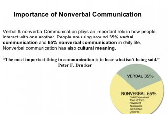 Importance of verbal and nonverbal communication
