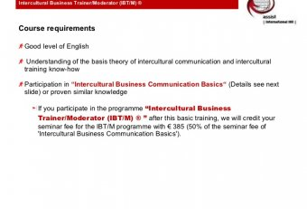 Intercultural business communication Basics