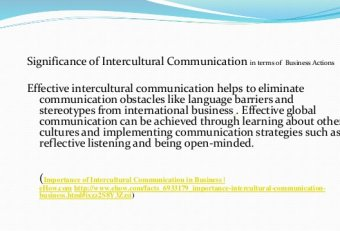 Intercultural business communication presentation