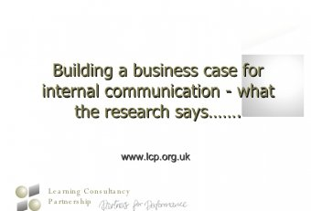 Internal Communication Business Case