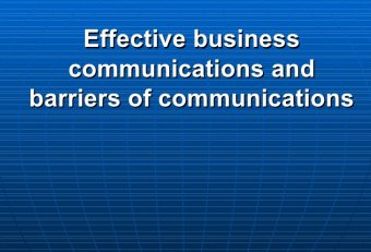 International Business Communication barriers