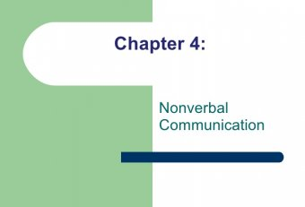 Non-verbal Communication in Business contexts