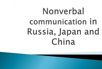 Nonverbal communication in Chinese