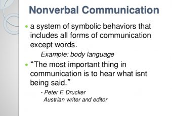 Nonverbal communication in England