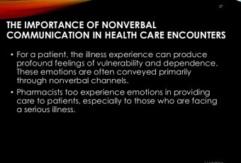 Nonverbal communication in Healthcare