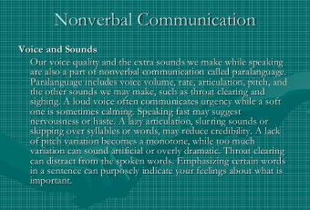 Nonverbal communication voice