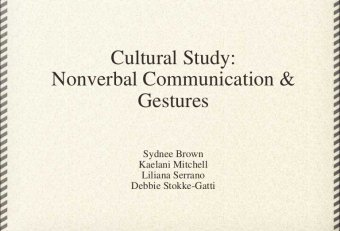 Nonverbal Communications in different cultures