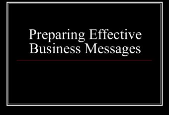 Process of preparing effective business communication