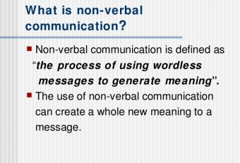 Process of verbal and nonverbal communication