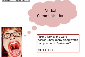 Verbal and nonverbal communication Worksheets
