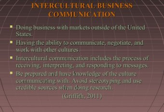 What is successful Intercultural business Communication?