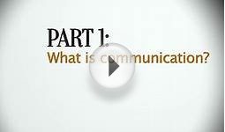 01 Communication Skills - What is Communication?