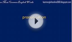 1500 Most Common English Words - 13: Communication