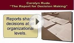 Analytical Reports: Writing Analytical Reports