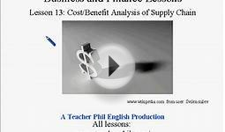 Business and Finance Lesson 13: Cost/Benefit Analysis of