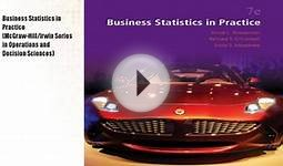 Business Statistics in Practice (McGraw-Hill/Irwin Book