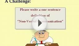Communication NonVerbal PowerPoint (PPT) Content Sample
