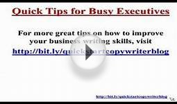 Effective Business Email Writing Tips for Busy Executives