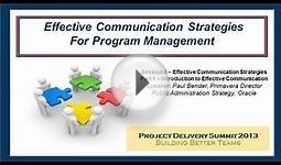 Effective Communication Strategies Part 1: Introduction to