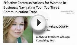 Effective Communications for Women in Business: Navigating