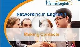 English for Business Networking: Making New Contacts