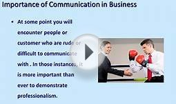 Essentials of Business Communication Skills