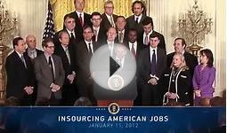 Insourcing Americans Jobs: Business Leaders Meet with