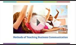 Methods of teaching business communication