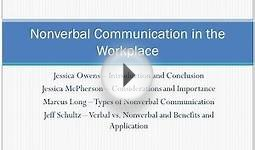 Nonverbal Communication in the Workplace