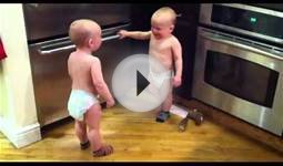 Nonverbal communication, two babies 2 minutes