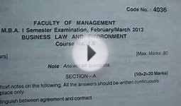 ou mba 1st semester business law and environment february
